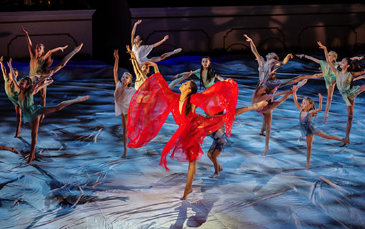 На сцене Мариинского театра прошел шоу-спектакль посвященный 80-летию художественной гимнастики