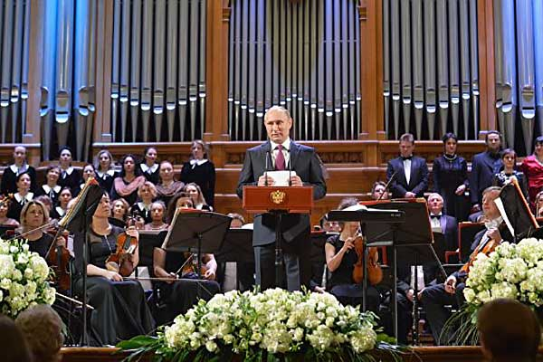 Путин посетил концерт оркестра Мариинки под руководством Гергиева