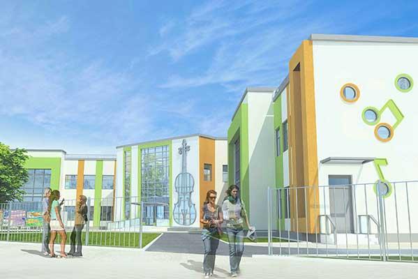 Проект нового здания музыкального колледжа в Пушкино