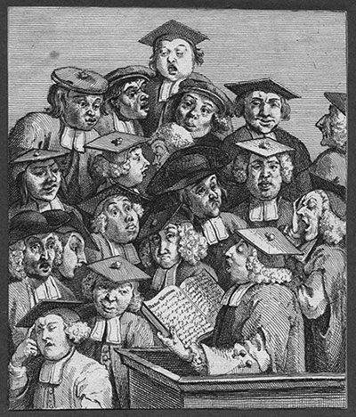 Уильям Хогарт (1697-1764). «Ученые на лекции»
