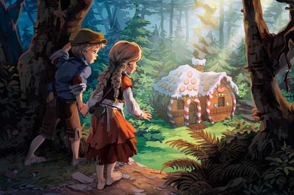 Гензель и гретель в волшебном лесу