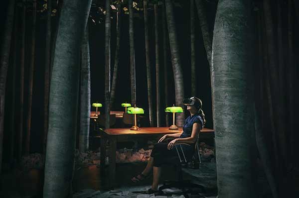 Ночь в библиотеке. Фото Stéphane Bourgeois
