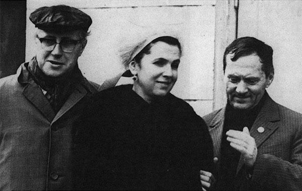 Мстислав Ростропович, Галина Вишневская, Израиль Гусман. Горький, 1960-е