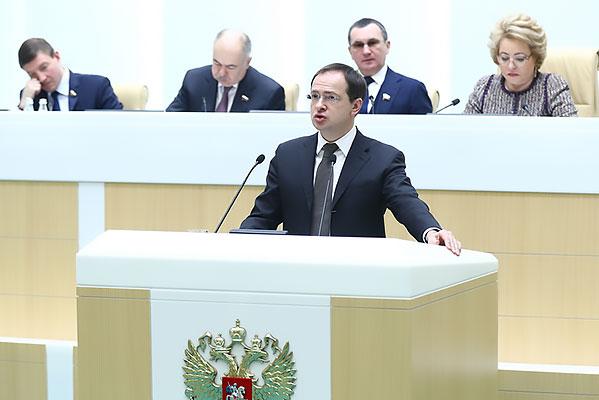 Владимир Мединский: «Необходимо закрепить законодательно минимальный процент расходов федерального бюджета на культуру»