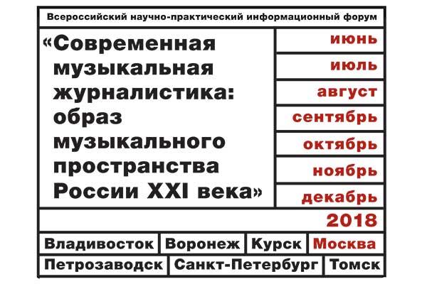 Заседания Всероссийского форума, посвященного музыкальной журналистике, пройдут в учебных заведениях Москвы 15 и 16 октября