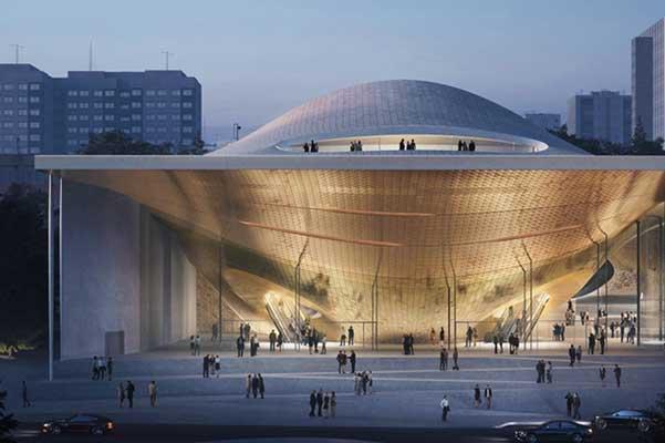 Проект Свердловской филармонии от архитектурного бюро «Заха Хадид» на Санкт-Петербургском культурном форуме