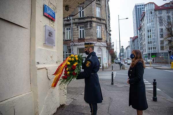 В Варшаве открыли мемориальную доску Мечиславу Вайнбергу